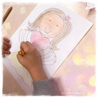 marieke de Boer, kleurplaat, praktijk vlinder je mee, rouwverwerking kinderen, tekentherapie, kind en rouw, hengelo, Enschede, Oldenzaal, Borne, Twente