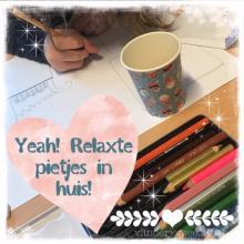 sinerklaas, drukke tijd, prikkels, relaxen, moment van rust, vlinder je mee, tekenen voor kinderen